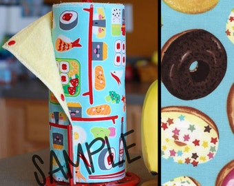 Unpaper Towel | Reusable Paper Towel - Donuts (0454450) Tree Saver Towel | Kitchen Towel | Snapping Cloth Paperless Towel & Wet Bag