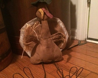 PreHalloweenSale Primitive Thanksgiving Day Turkey