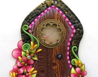 Fancy Window Fairy Door, Fairy Garden Decor, Tooth Fairy Door with a Window
