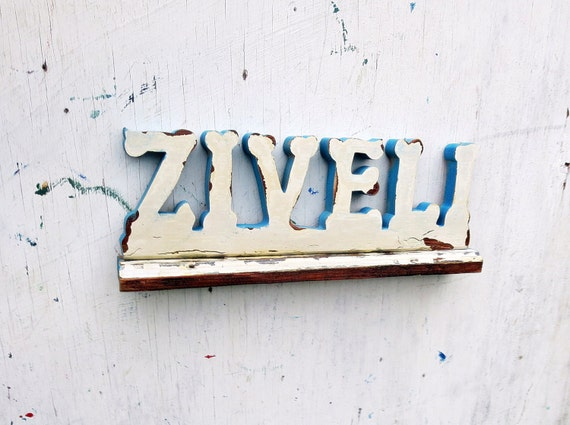 Ziveli Sign, Serbian Sign, Personalized Sign,  Recycled Wood Bar Sign, Customized Sign, Reclaimed Wood Sign