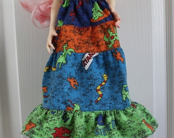 Tiered Skirt for 60cm BJD, Features Creatures, so very 1990s