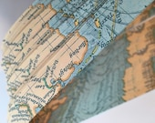 "Half price* 5/8"" Weaving Star Paper~ Old World Map (50 strips)"