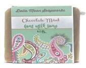 Handmade Chocolate Mint Goat Milk Soap, sensitive skin, cocoa butter soap, mint soap, cold process soap, dry skin,  eco friendly