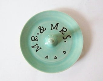 Wedding gift ring dish - Gift for the bride - Keepsake Ring Dish - Ready to Ship,  Gift box included