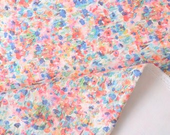 Japanese Fabric Spacer Knit - digital print floral - A - 50cm