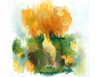 Yellow and Green, Abstract Art, Modern Art Print, Abstract Print, Modern Painting, Yellow Abstract, Yellow Abstract Art, Golden Art