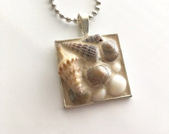 Lovers Beach Mosaic Seashell Pendant