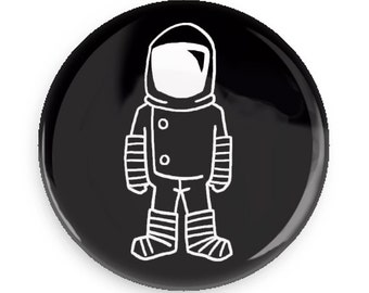 Pin back Button Astronaut Pin Badge Brave Moonman Cool Gift Idea Spaceman Magnet Pin Game Flair