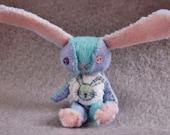 Patchwork baby blanket Felt Bunny ~ White Tail