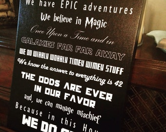 In This House - We Do Geek Canvas Print (with variations on the theme)