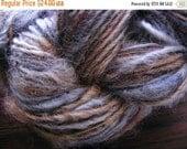 Almost SPRING CLEARANCE DUSK Earth Handspun Wool Yarn Fleecespun Coopworth 128yds 3.0oz 8wpi aspenmoonarts knitting art yarn