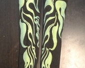 """Limited Edition 18"""" Flame print sleeve Green ink"""