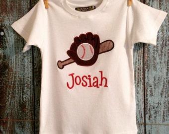 "Boys "" hey batter batter"" custom tee. Long or short sleeve available ."