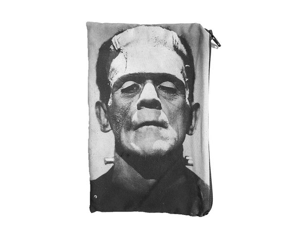 Frankenstein's Monster Black and White Makeup Pouch