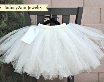 Cream Tutu Skirt, Cream Tulle Skirt, Flower Girl Tutu Skirt, Little Girl Skirt, 1st Birthday Tutu, Ballet Dancer Tutu, Little Princess