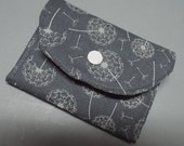Small Fabric Wallet Wind Tossed Dandelions