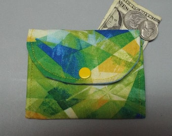 Mini Fabric Wallet Reflections Fabric