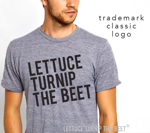 lettuce turnip the beet ® OFFICIAL SITE -  the classic heather grey track tee with logo - unisex S - XXL - seen in Modern Farmer magazine