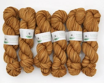 Clearance - Superwash Merino Wool Sock Yarn in Butter Rum by Blarney Yarn