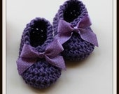 Birthday Sale 1.20 - Crochet Baby Shoes - Crochet Baby Booties - Lil Bo Peep - Crochet Pattern - Downton - KrissysWonders