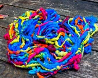 Handspun Art Yarn- Octopus Garden- Signature Jazztutle TextureSpun Artisan Yarn