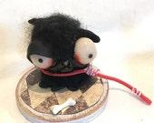 black doggy Ooak   art doll