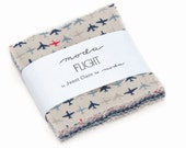 """2.5"""" Mini Charm Squares -  Flight by Janet Clare for Moda - includes 42 pieces of fabric"""