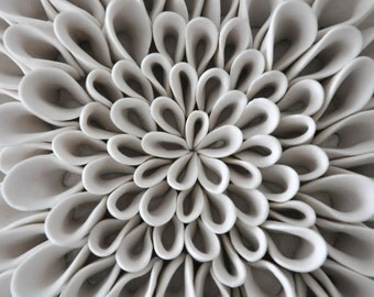 Dahlia - Textured Decorative Wall Tile Sculpture - Luxe Micro Tile