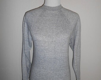SALE Vintage 70's 80's sweatshirt sweat shirt                  grey gray   basic plain