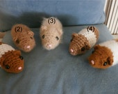 Cute & Cuddly Stuffed Hamster Toys - Crochet, all colors available!  Either smooth hair or fluffy