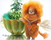 Have Courage Cowardly Lion Needle Felted Doll Anthropomorphic Art Doll German Doll Parts Leo The Lion