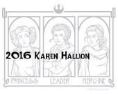 Princess Leader Herione Coloring Page - Digital Download