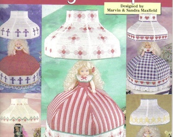 Lady Lamps ~ plastic canvas book  ~ 5 patterns to make