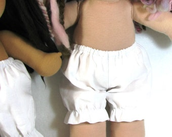 White cotton muslin doll bloomers