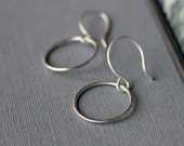 Circle Earrings - Sterling Silver | simple silver earrings | petite earrings | minimal jewellery | everyday earrings | uk gift