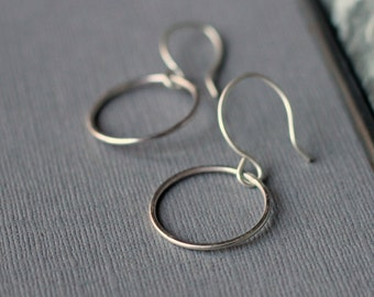 Simple Circle Earrings - handcrafted sterling silver jewellery