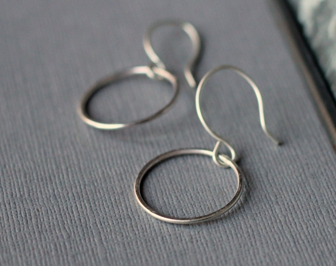 Circle Earrings - Sterling Silver