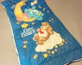 Children's 1984 Care Bears Sleeping Bag-Hallmark-1980s Toys-Teddy Bears