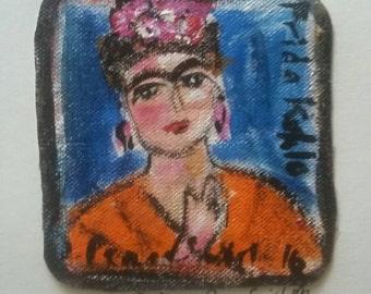 Frida Kalho original PeaceSwirl painting #1