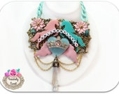 Unicorn Love Necklace Huge Statement one of a kind jewelry