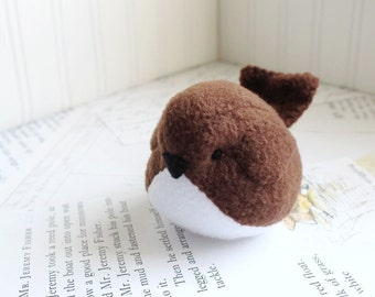 Handmade Bird Stuffed Animal Brown Plush Bird Fleece Bird Stuffed Toy