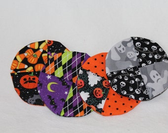 Happy Halloween Fabric Wine Coasters set of 4