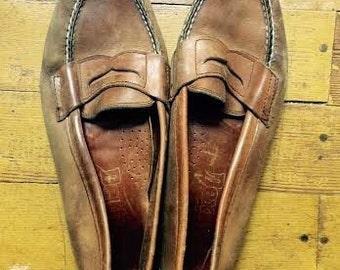 Vintage mens leather 1970's Dexter laofers. size 9/9.5