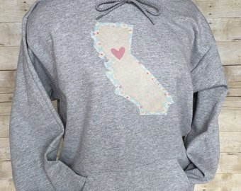 I Heart California Hoodie Sweatshirt child and adult
