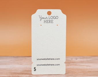 Earring Cards | Perforated Bottom | Ticket Shape Peg Hole - Product Packaging Display Necklace Cards