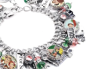 Realtor Jewelry, Home Sales, Real Estate Agent, Realtor Bracelet, Home Charm Bracelet, Personalized Realtor Bracelet