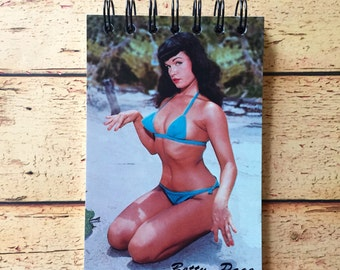 Betty Page Postcard Notepad