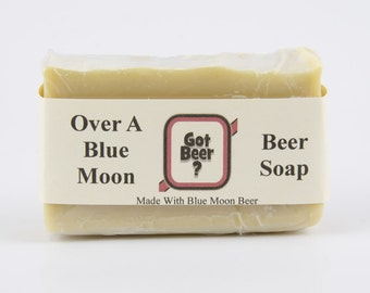 Over A Blue Moon Beer Soap - Gift for Men - Fathers Day Gift - Soap For Men