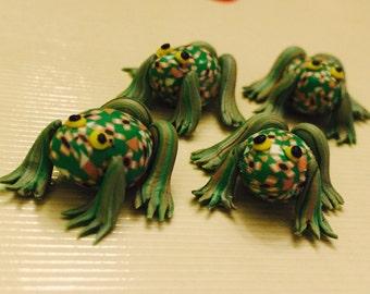 DESTASH Four Polymer Clay Frogs