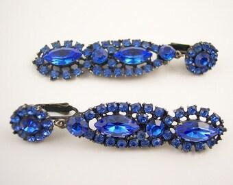 Vintage Thelma Deutsch Rhinestone Earrings